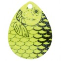 Chartreuse Fish Scale Crystal